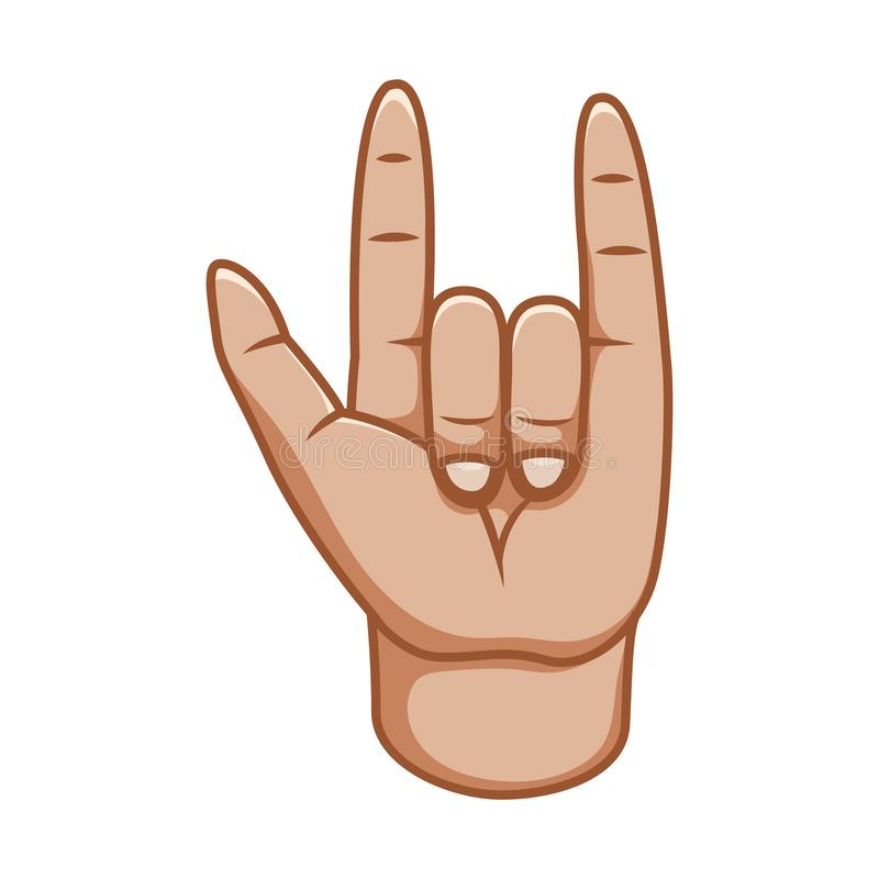 Gestes de main, grande conception pour tous buts Signe frais Bon signe Ligne icône de geste Gestes de vecteur Fond blanc illustration de vecteur