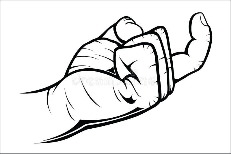 Gestes de main - venus ici illustration libre de droits