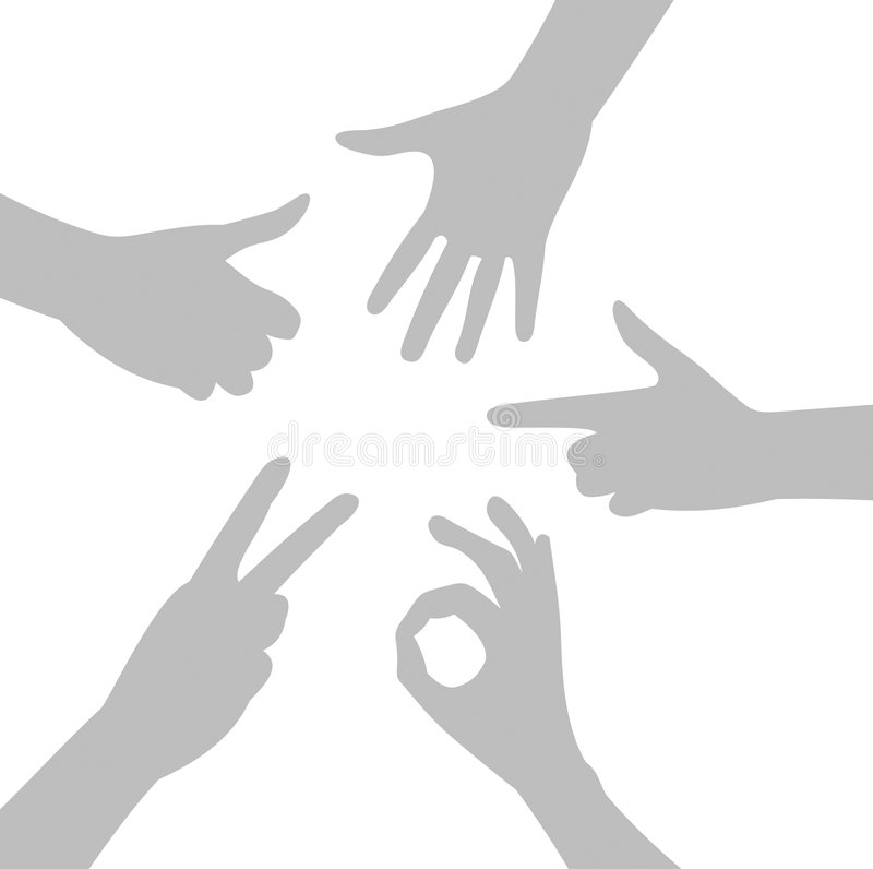 Gestes de mains illustration libre de droits