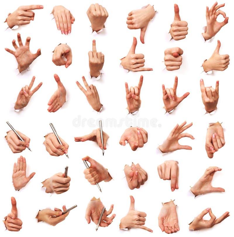 Gestes des mains. Amour des hommes photo libre de droits
