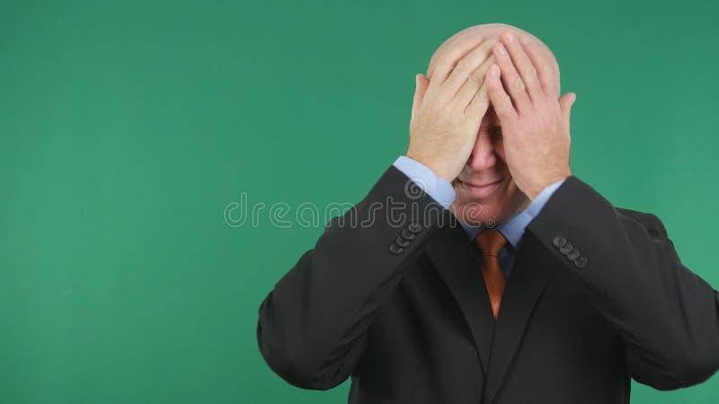 Gestes nerveux et irrités de Make Disappointed Hand d'homme d'affaires photos stock