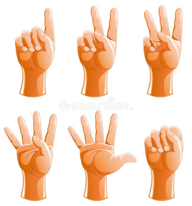 gesthandillustration stock illustrationer