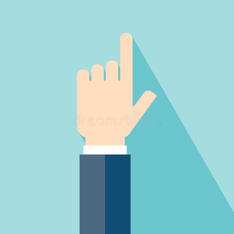 gesthandsymbolen tumm upp royaltyfri illustrationer