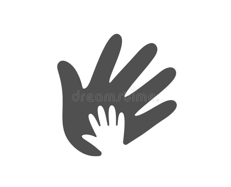 gesthandsymbolen tumm upp Tecken för socialt ansvar vektor stock illustrationer