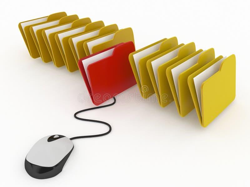 Gestión de bases de datos o concepto en línea del archivo ilustración del vector