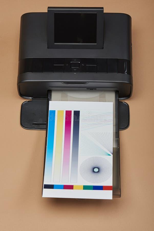 Gestión de color de la impresora casera foto de archivo libre de regalías