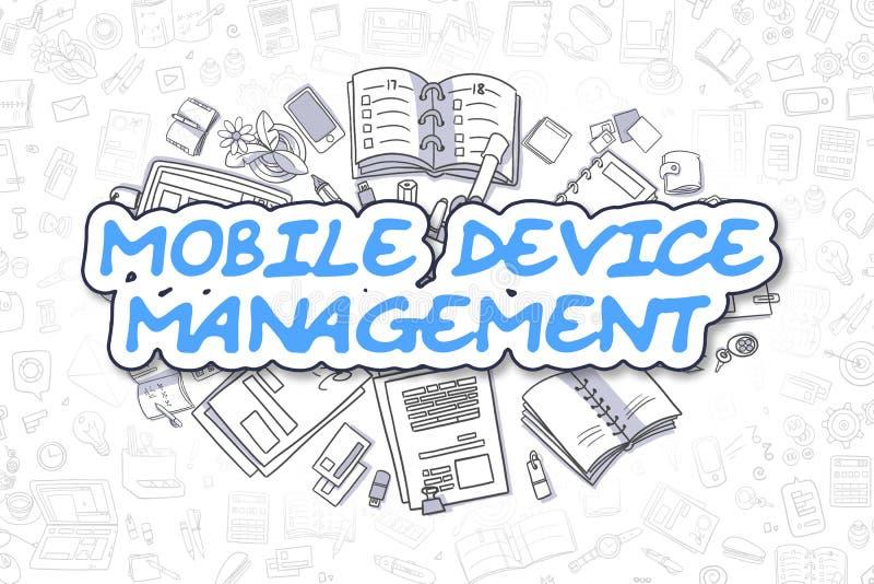 Gestión de dispositivo móvil - concepto del negocio libre illustration