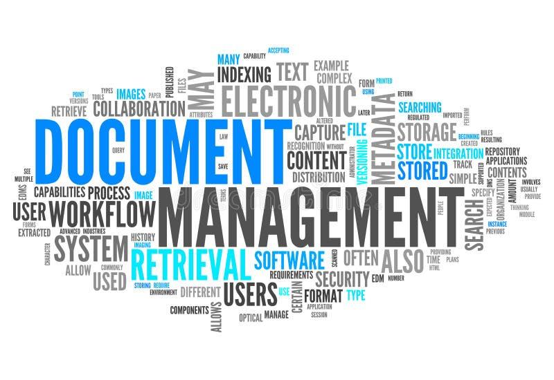 Gestión de documentos de la nube de la palabra libre illustration
