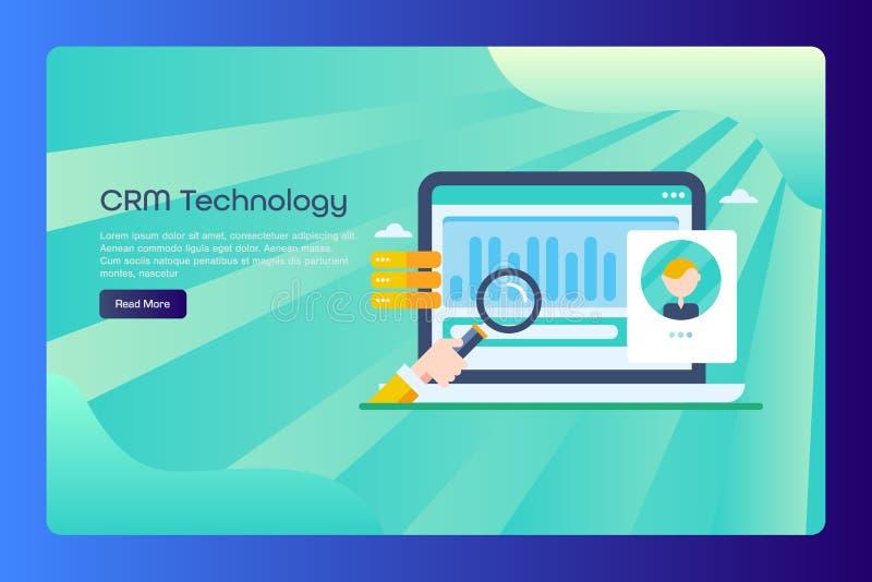 Gestión de la relación del cliente, software del crm, servicio de atención al cliente, concepto del análisis de datos, plantilla  libre illustration