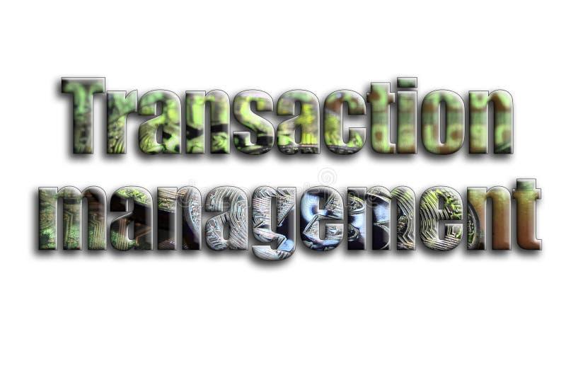Gestión de la transacción La inscripción tiene una textura de la fotografía, que representa varios bitcoins en un acelerador de g stock de ilustración