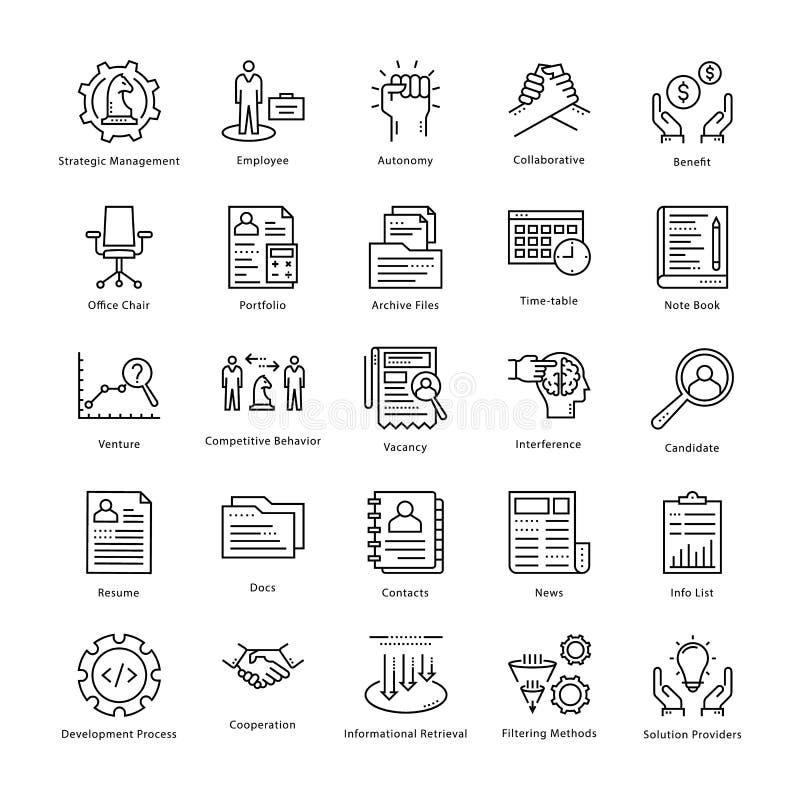 Gestión de negocio y línea iconos 6 del vector del crecimiento libre illustration