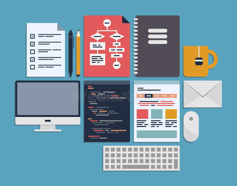 Gestión de programación del Web site libre illustration