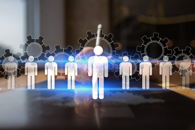 Gestión de recursos humanos, hora, reclutamiento, dirección y el teambuilding Concepto del negocio y de la tecnología fotografía de archivo libre de regalías