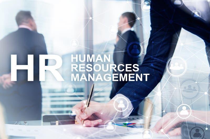 Gestión de recursos humanos, hora, Team Building y concepto del reclutamiento en fondo borroso fotos de archivo