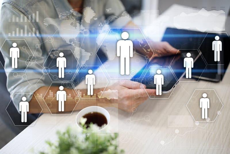 Gestión de recursos humanos de la hora Reclutamiento, empleando, Team Building Estructura de organización libre illustration