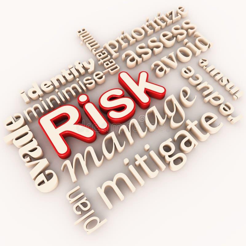 Gestión de riesgos stock de ilustración