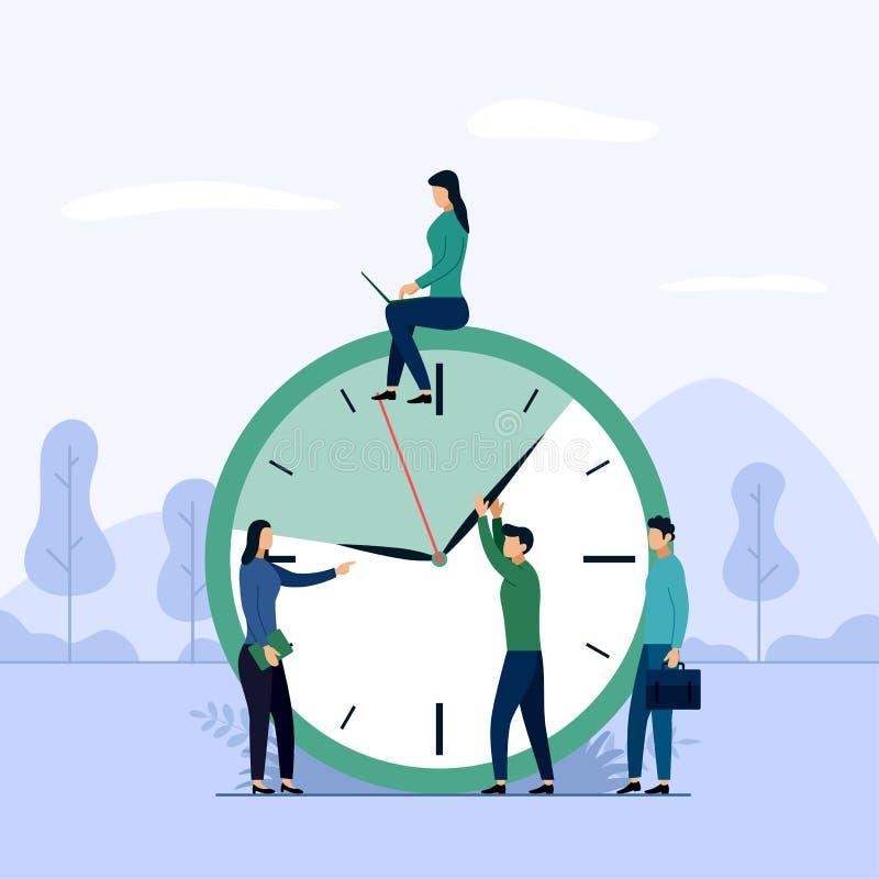 Gestión de tiempo, concepto o planificador, ejemplo del horario del vector del concepto del negocio stock de ilustración