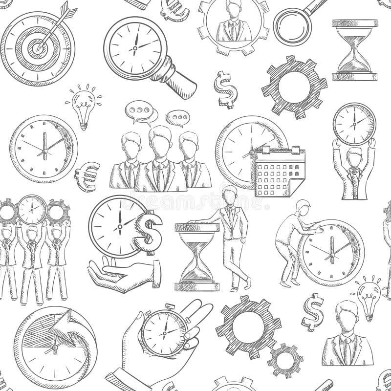 Gestión de tiempo inconsútil ilustración del vector