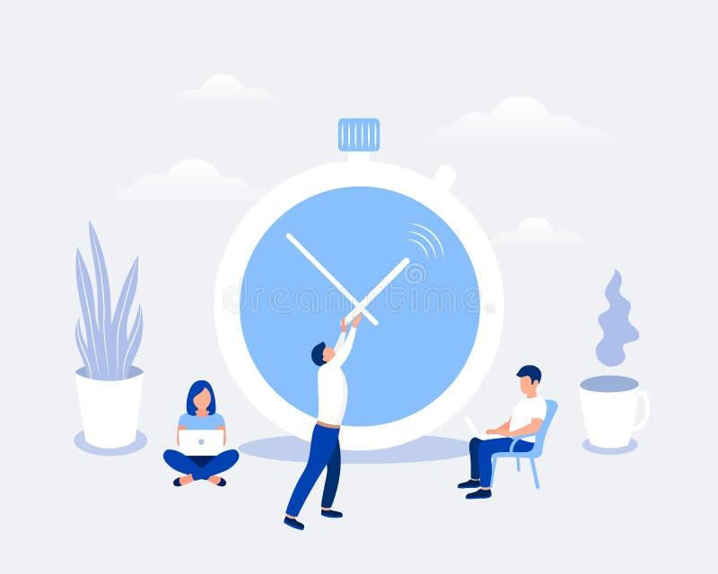 Gestión de tiempo y concepto de diseño del plazo libre illustration