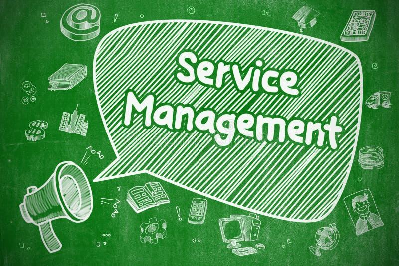 Gestión del servicio - concepto del negocio stock de ilustración
