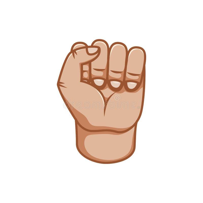 Gesti di mano, grande progettazione per qualsiasi scopi Maschio del pugno Linea icona di gesto Gesti umani di vettore Priorità ba royalty illustrazione gratis