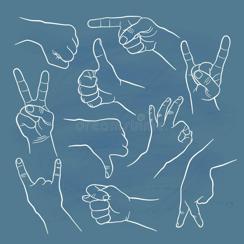 Gesti umani illustrazione vettoriale