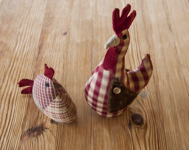 Gestickte Hühner stockfotografie