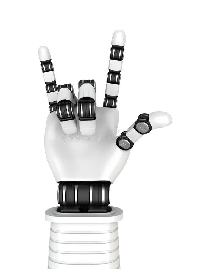 Gesticular da música rock da mão de braço do robô ilustração royalty free