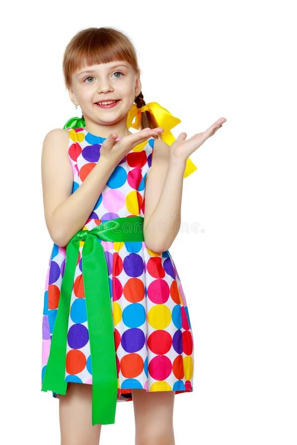 Gesticular da menina imagem de stock royalty free