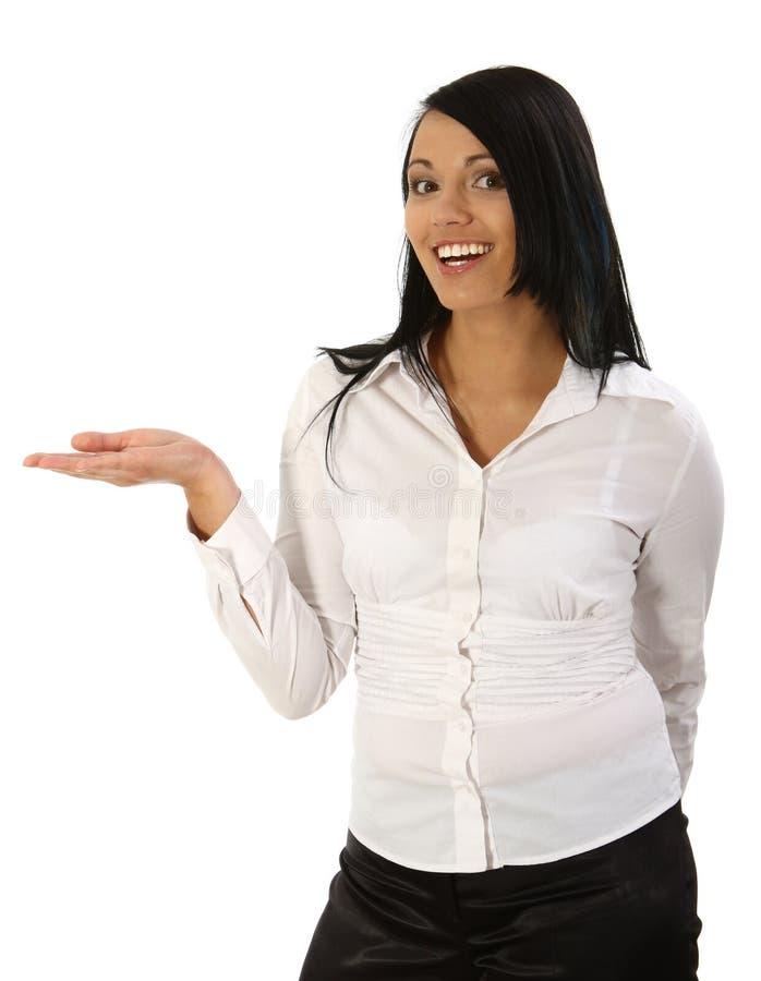 Gesticular das mulheres novas imagem de stock