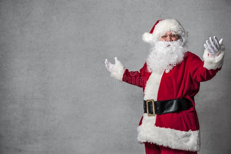Gesticular de Santa Claus fotos de stock royalty free