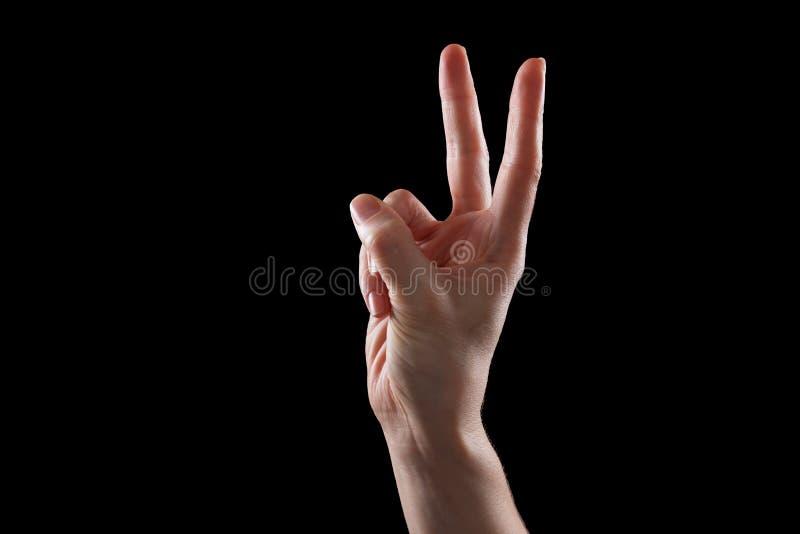 Download Gesticule, A Mão Da Jovem Mulher Indica Os Dispositivos Do Sentido Ou Do Toque Imagem de Stock - Imagem de isolado, gesto: 65575769