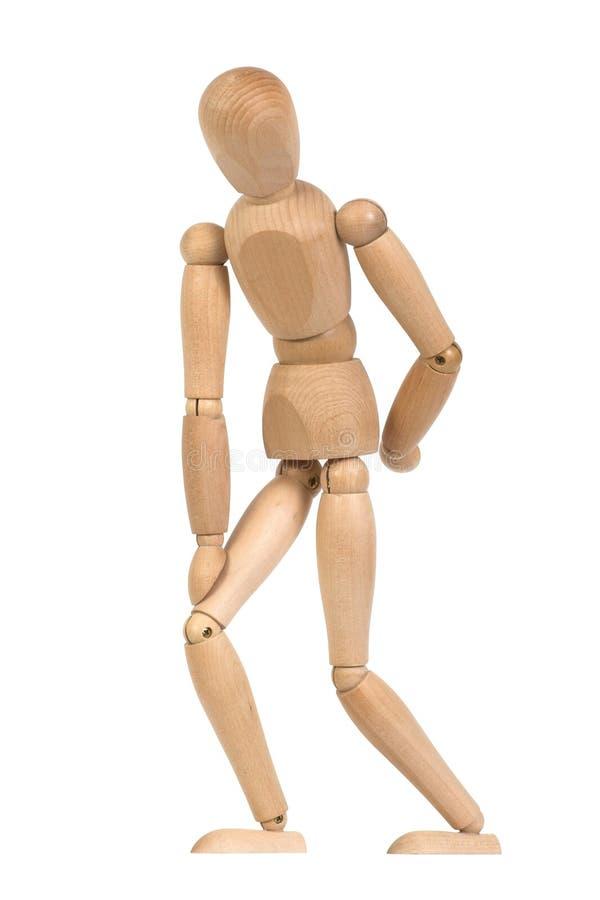 gesticulent le mannequin en bois photo stock
