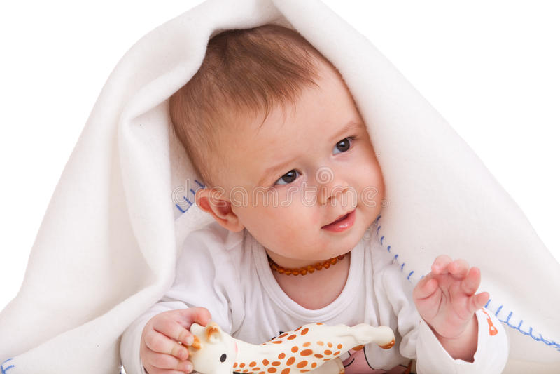 Gesticulerende baby royalty-vrije stock foto
