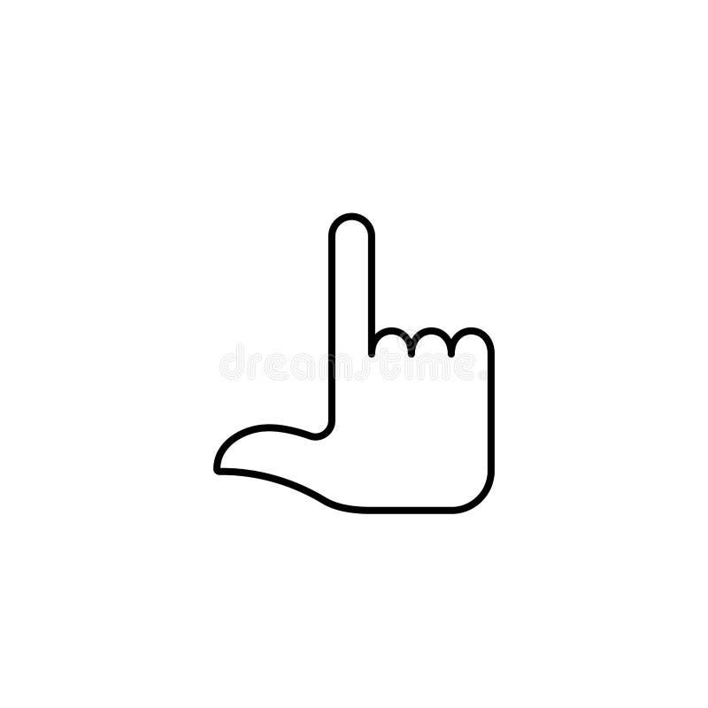 Gestikulieren Sie zurück Finger zwei lizenzfreie abbildung