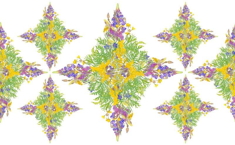 Gestileerd bloemenboeketpatroon royalty-vrije stock afbeelding