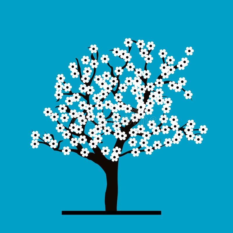 Gestileerd Cherry Tree stock illustratie