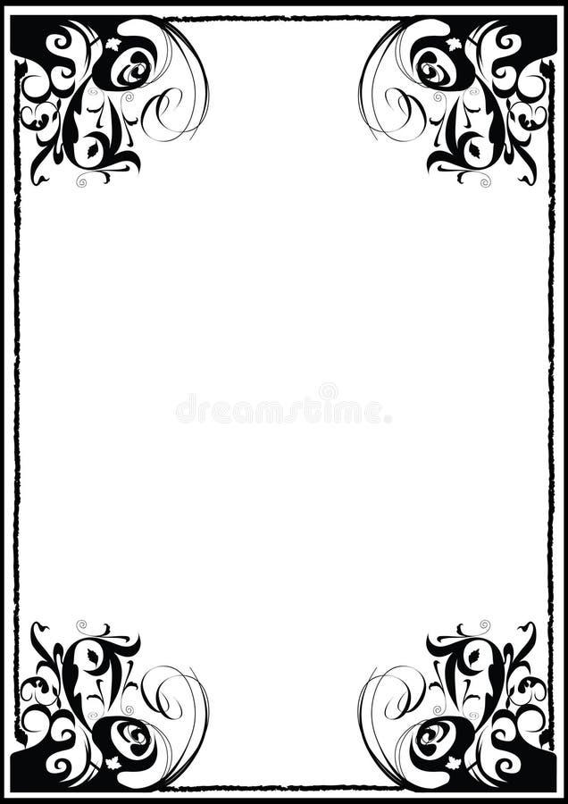 Gestileerd frame vector illustratie