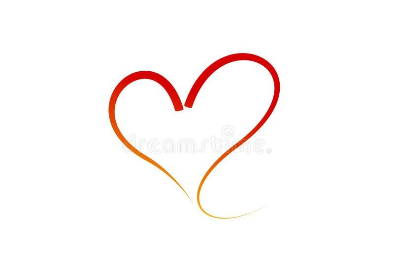 Gestileerd hart - vector geïsoleerd beeld royalty-vrije illustratie