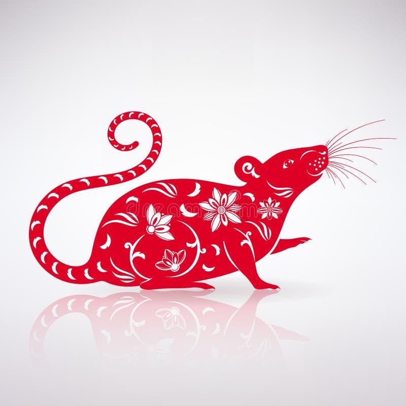 Gestileerd Rattenpictogram vector illustratie