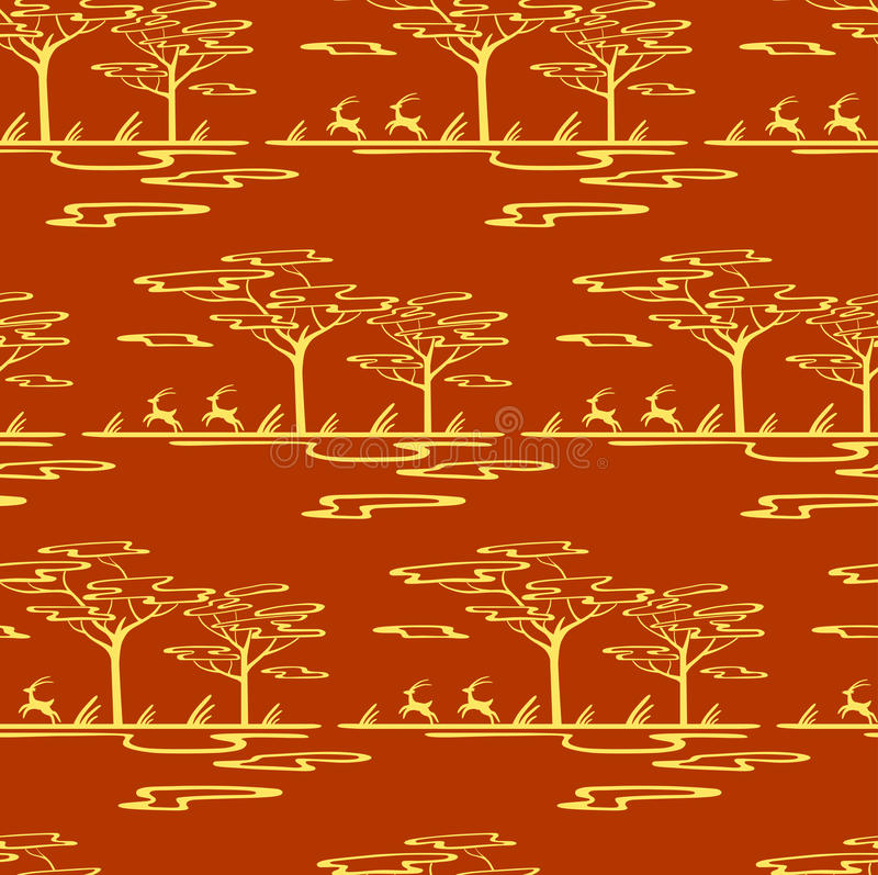 Gestileerd savannepatroon vector illustratie