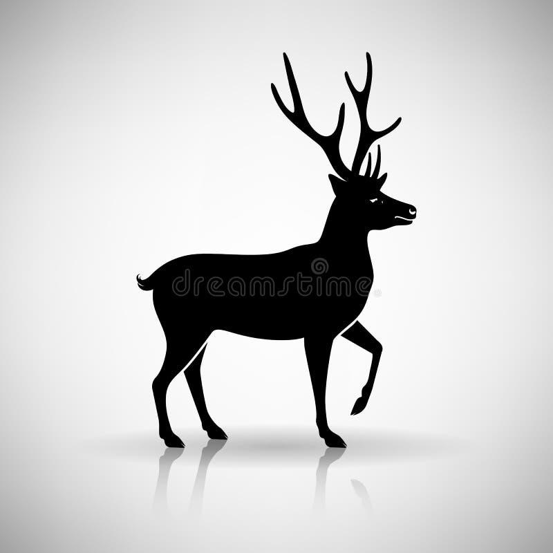 Gestileerd Silhouet van een Hert vector illustratie