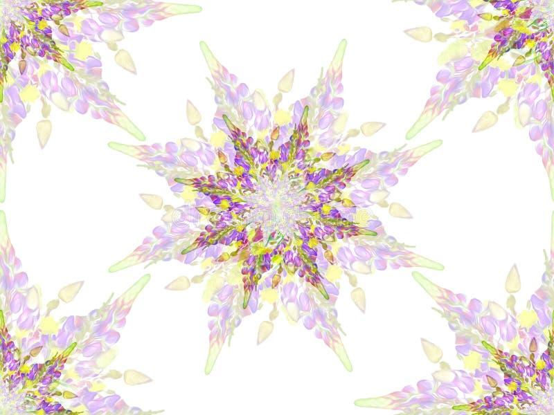 Gestileerd ster bloemenpatroon stock fotografie