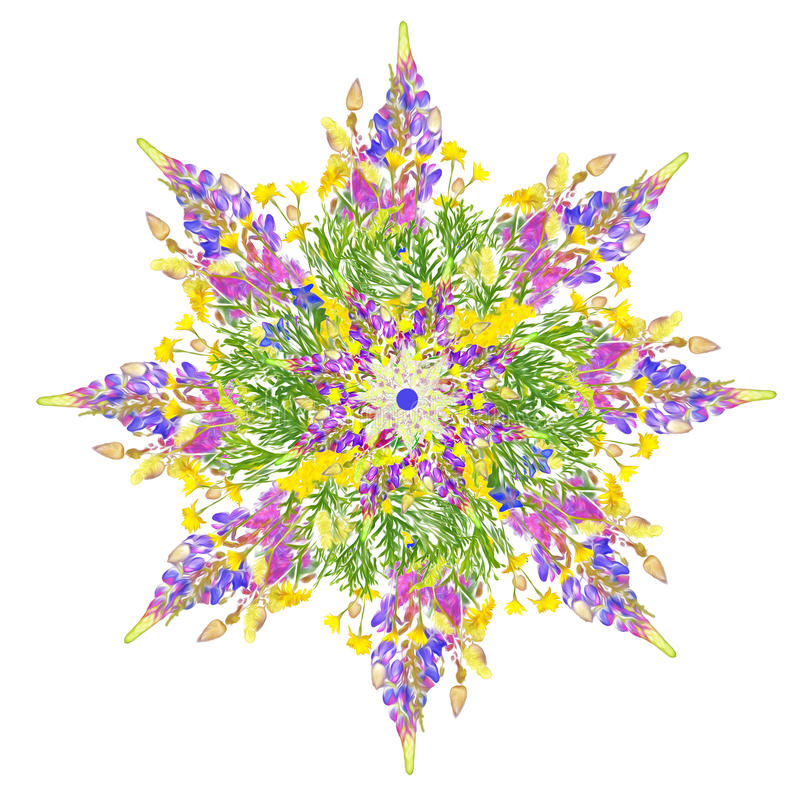 Gestileerd ster bloemenpatroon stock foto