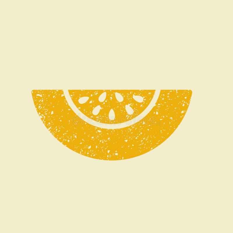 Gestileerd vlak pictogram van een meloen vector illustratie