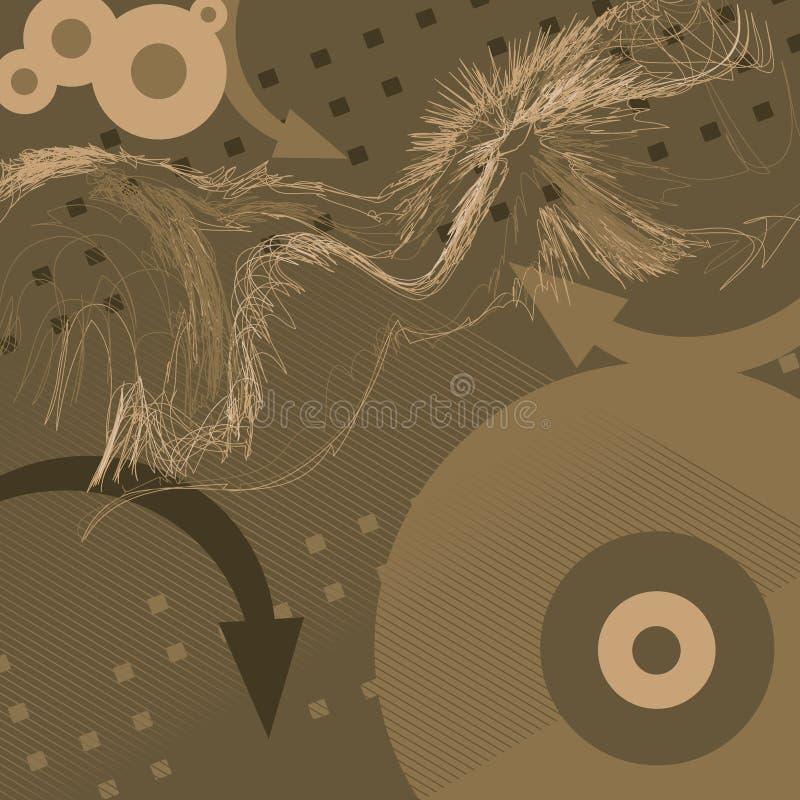 Gestileerde Achtergrond - O2 vector illustratie