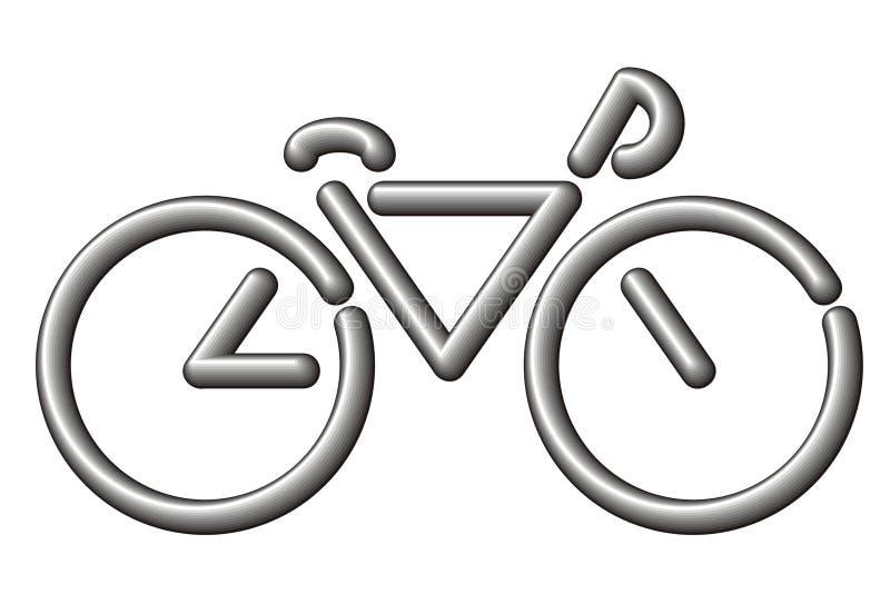Gestileerde fiets vector illustratie