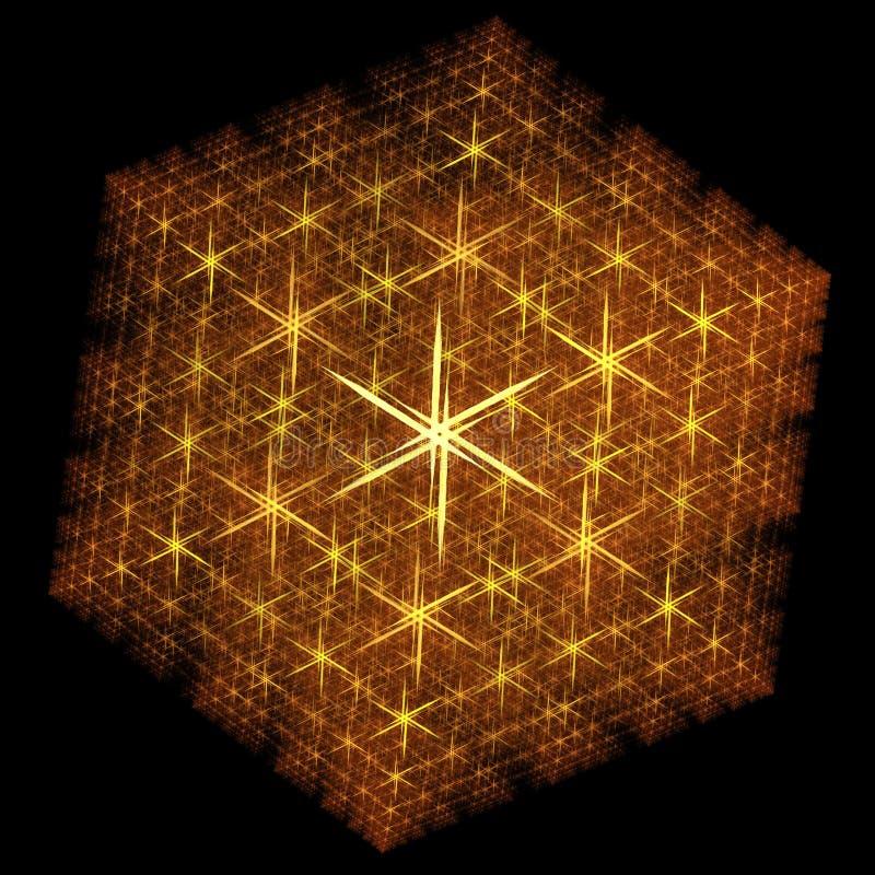 Gestileerde Fractal Sneeuwvlok royalty-vrije illustratie