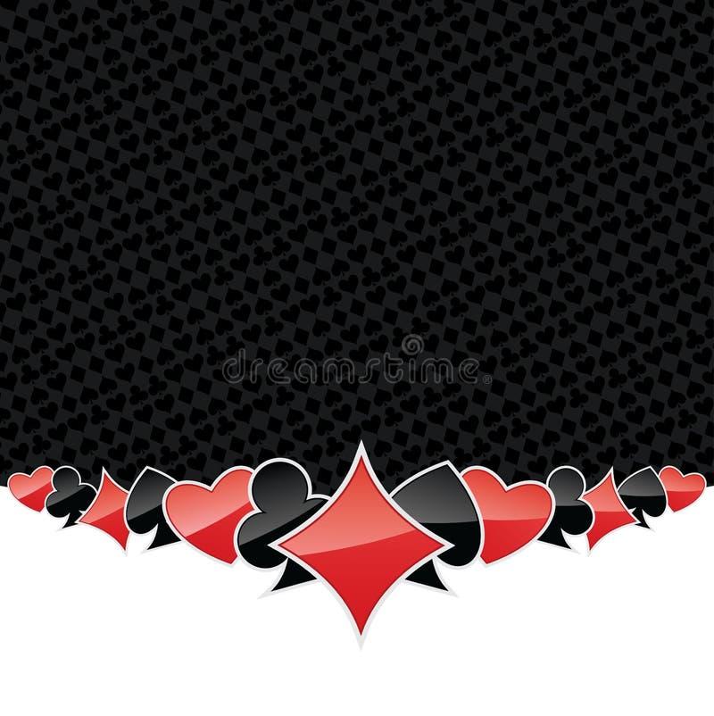 Gestileerde het gokken achtergrond vector illustratie