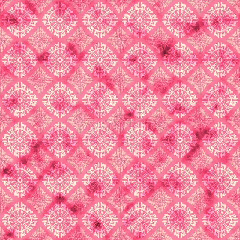 Gestileerde het roze watercolored achtergrond vector illustratie